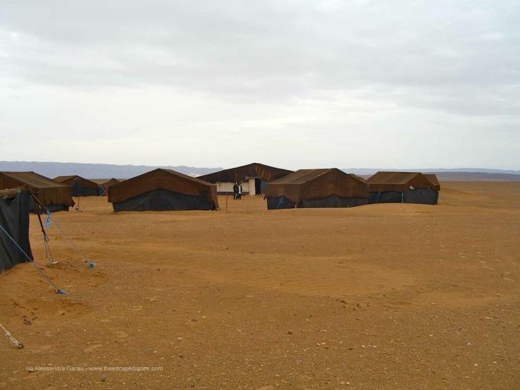 alba nuvolosa sulle Dunes de Nakhla