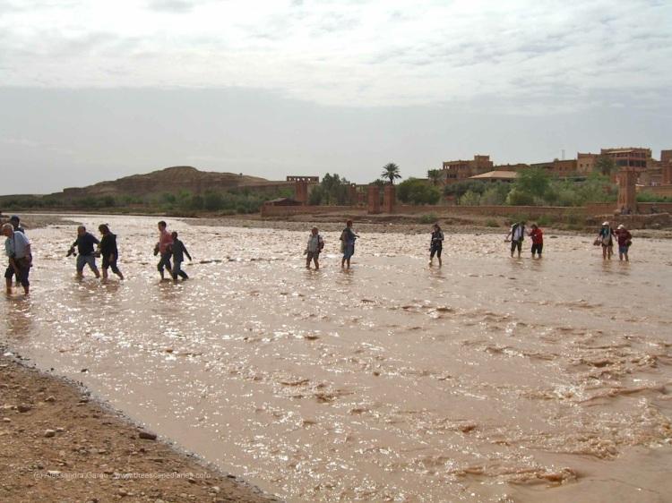 Kasbah d'Ait Ben Haddou: il fiume gelato in piena!