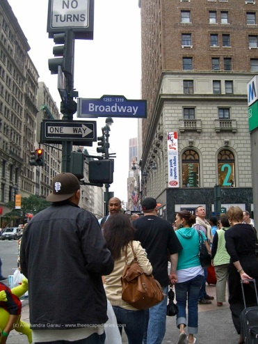 per le strade di NY