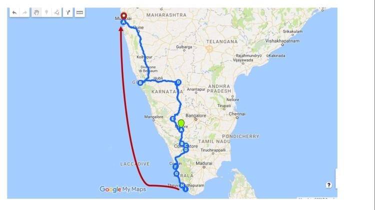 mappa-itinerario-india-del-sud