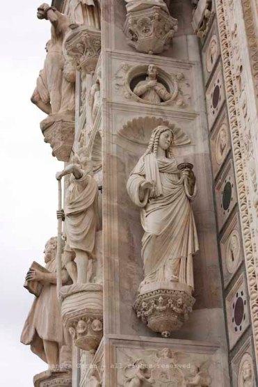 Certosa, particolare della facciata