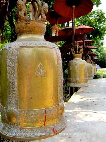nel giardino del tempio, Chiang Mai