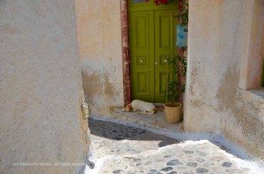 Sulle strade di Pyrgos, Santorini